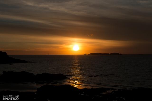 Couché de soleil à Saint Malo