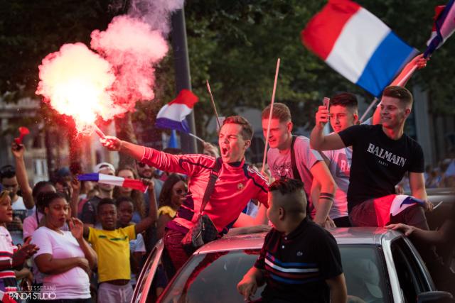 Célébration de la victoire des bleus - Chartres 2018